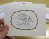 Thank You Card Set: Handwritten Quotations