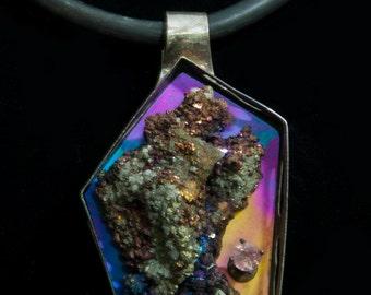 Ultra Violet mineral pendant