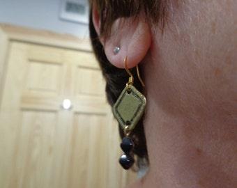 Antique gold dangle earrings