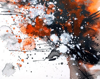Chaos X Subside 01 • watercolour with gouache  • 21 x 21cm • art print
