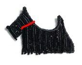 SCOTTISH TERRIER beaded Scottie Dog pin pendant art jewelry (Made to Order)