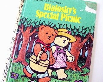 Vintage 1990's Childrens Book - Bialosky's Special Picnic - Little Golden Book, McGuire and Joyner
