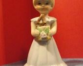 Vintage Growing Up Birthday Girl figurines by Enesco 4th birthday