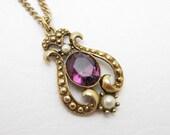 Victorian Amethyst Necklace Avon Queensbury Collection N6836