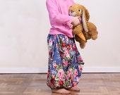 Girl's Flannel Harem pants, PJ's, pajamas, Harem pants, Baby pants, Toddler, Infant, Winter, Spring, lounge pants, sizes newborn through 6X