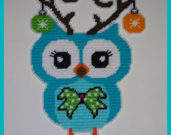 Christimas Decorated Owl Wall Hanging