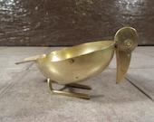 Sweet vintage Napier brass bird ashtray- cute, functional, great home decor item