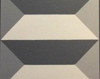 Op Art Geometric Minimalist Painting