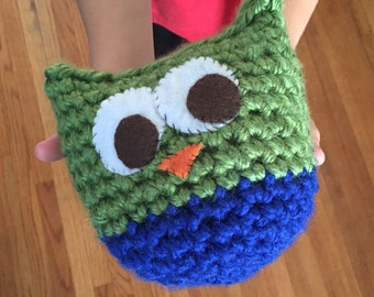 Crochet Stuffed Owl Toy -- Multiple Color Combos