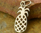 Pineapple Necklace - Solid 925 Sterling Silver Auspicious Feng Shui Charm - Insurance Included