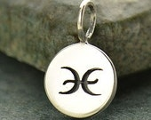 NEW - PISCES 925 Sterling Silver Zodiac Charm - Add A Chain Option Avaliable - Insurance Included
