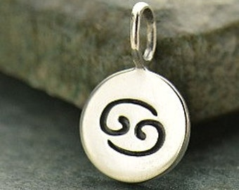 NEW - CANCER 925 Sterling Silver Zodiac Charm - Add A Chain Option Avaliable - Insurance Included