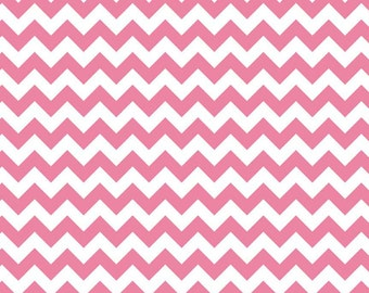STORE CLOSING Chevron - Pink - Riley Blake Cotton Fabric by the Yard