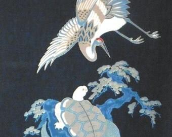 Japanese panel - Crane and Turtle