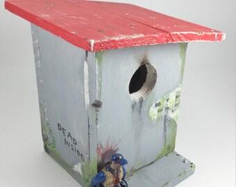 Zombie apocalypse birdhouse  walker bird house dead inside bird house by GarageInc