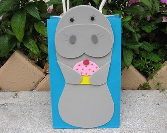 Manatee with Cupcake Birthday Party Favor Bag