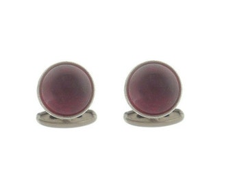 Antique Ruby Art Deco Cuff Links, 1920s Fine Vintage Accessories, Vintage Ruby Glass Cuff Links