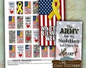 Military Digital Collage Sheet Printable Paper 1x2 Images for Domino Pendants, Key Chains, Resin, Magnets, Glass, Decoupage Paper, Mini Tags