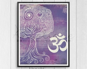 Om Wall Art, Printable Wall Art, Digital Print, Zen Wall Art, Zen Printable, Yoga Printable Art, Zen Wall Decor, Yoga Studio Art