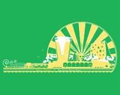 Madison, Easy, Breezy, Beerzy, Cheesy,  Organic/Recycled, Uni-sex, Tshirt