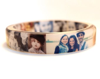 Custom Photo Resin Bangle Bracelet