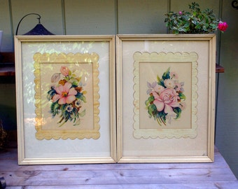 Pair of Vintage Floral Prints