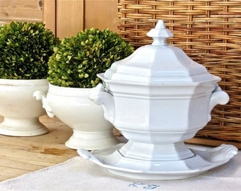 Antique Beauty........J Wedgewood White Ironstone Tureen