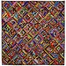 """New Handmade String Quilt African Wax Prints Colorful  51"""" X 51"""""""