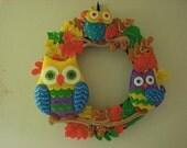 Bucilla Owls Harvest Wreath