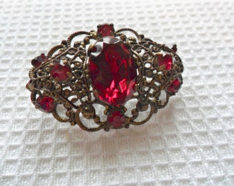 Ruby Red Brooch SALE PRICE