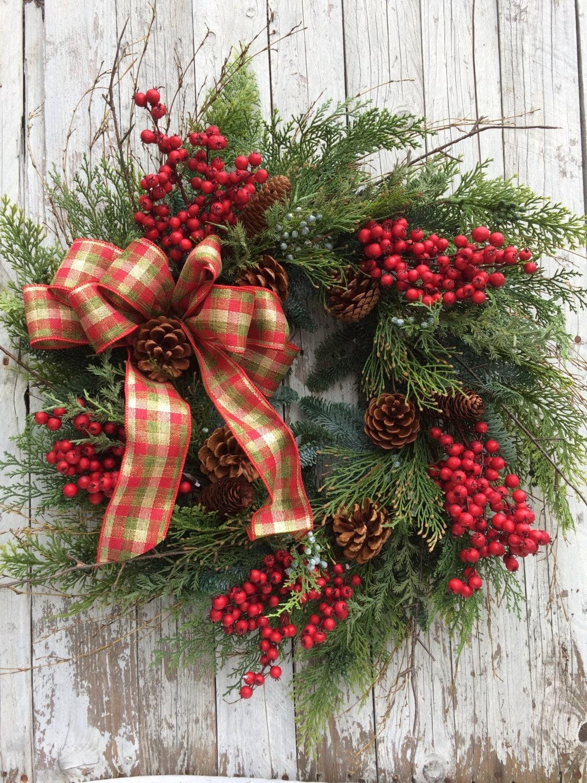 christmas wreath outdoor lights