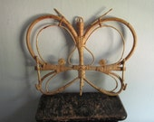 1970s Butterfly Bamboo Jewelry Wall Hanging