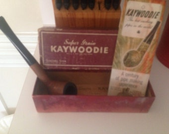 Kaywoodie Pipe Box Pamplet Tobacco Advertising