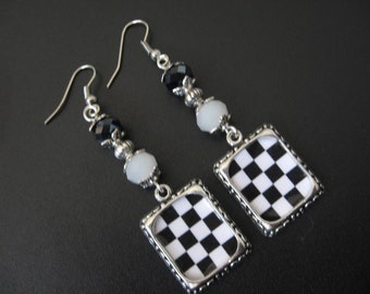 Nascar Earrings, Nascar Jewelry, Sports Earrings, Sports Jewelry, Daytona 500 Earrings, Daytona 500 Jewelry, Car Racing Earrings,