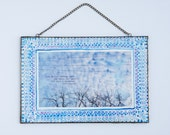 winter hurries past - hand painted framed photo ready to hang