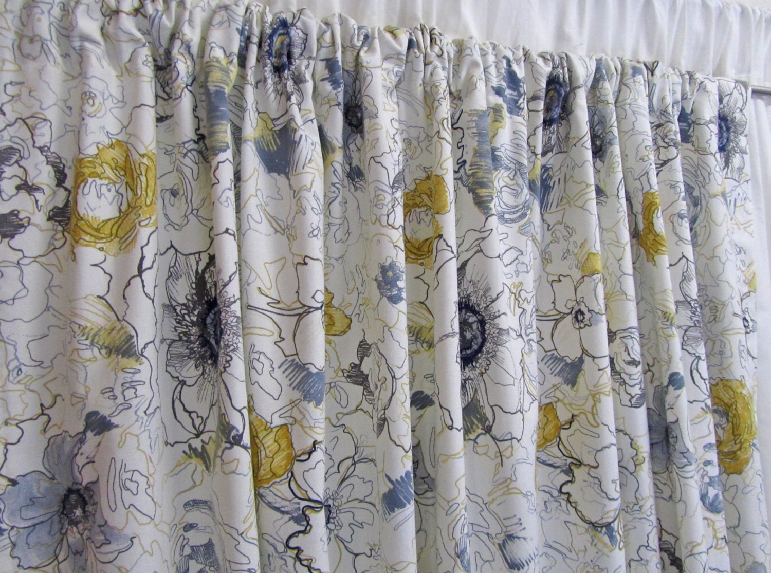 Trendy curtains abstract floral window curtains cool modern Trendy curtains