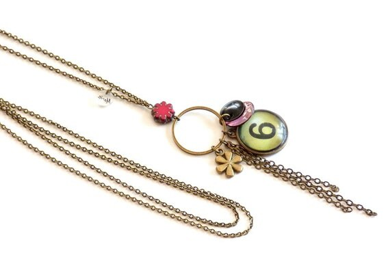 Long boho necklace with charms, Long charm necklace, Boho jewelry, Boho necklace, Boho, Trendy necklace, Hippie chic necklace