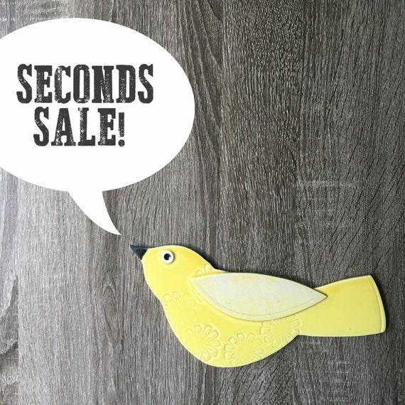 SECONDS SALE porcelain wall birds!