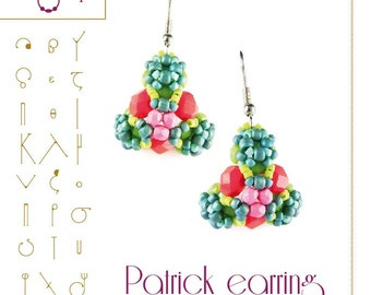 pendant tutorial / pattern Patrick earring...PDF instruction for personal use only