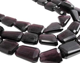 Amethyst Quartz Beads, Faceted Nuggets, Purple Quartz, SKU 3937A