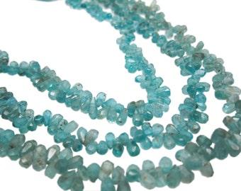 Apatite Briolettes Beads, Aqua Apatite Teardrop, 3mm x 5mm, Apatite Beads, SKU 4390A
