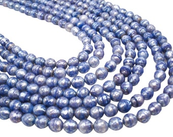 Faceted Pearls, Faceted Freshwater Pearls, Lavender Freshwater Pearls, Faceted Potato Shape, SKU 4333A