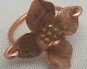 Copper Flower Earrings. Mothers Earrings. Dogwood Flower Earrings.