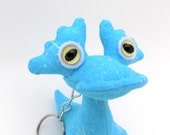 Cute Keychain, Stocking Stuffer Toy for Boys, Monster Keychain, Alien Keychain, Zipper Pull, by Adopt an Alien named O'Ryan