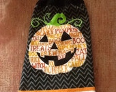 Halloween Pumpkin Towel  / Double Hanging Kitchen Towel