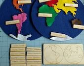 Movalbe Felt World Map with labels and control map