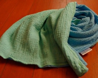 Muslin Security Blanket - custom hand dyed lovey