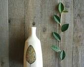 Fall leaf vase, leaf art ceramic vase, rustic home decor, woodland vase