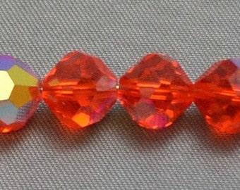 Vintage Crystal Article 5000 Round Hyacinth AB 8mm (4)