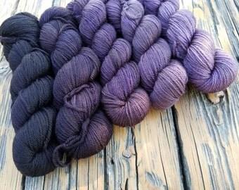 Emery Gradient Set of 5 - 150 Yard Skeins - 750 yards - 90% Targhee wool/10 Nylon
